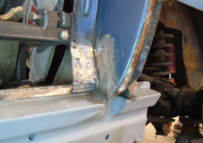 Aston Martin V8 B Pillar And Rear Chassis Welding