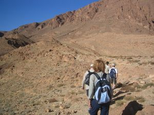 Hiking up the high Atlas