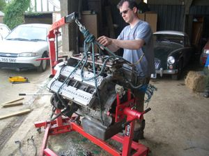Gary unslings the engine.