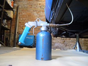 Waxoyl gun question mig welding forum for Undercoating with used motor oil