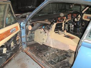 Interior removed for welding