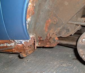Rear suspension attachment rust